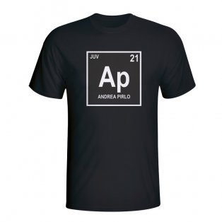 Andrea Pirlo Juventus Periodic Table T-shirt (black)