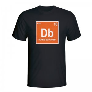 Dennis Bergkamp Holland Periodic Table T-shirt (black) - Kids