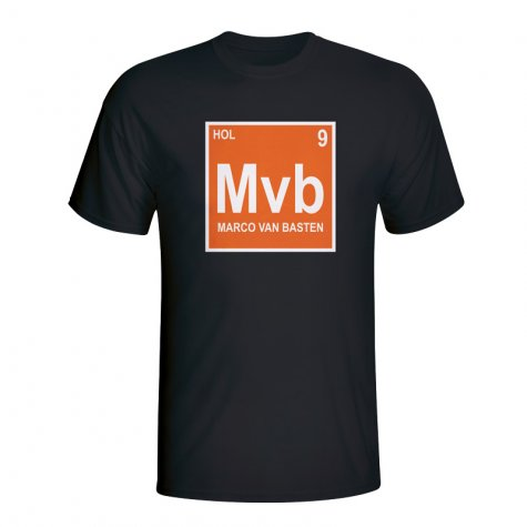 Marco Van Basten Holland Periodic Table T-shirt (black)