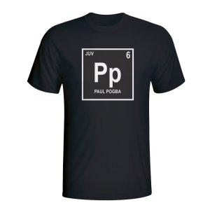 Paul Pogba Juventus Periodic Table T-shirt (black)