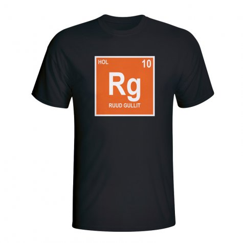 Ruud Gullit Holland Periodic Table T-shirt (black)