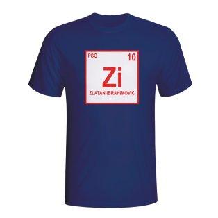 Zlatan Ibrahimovic Psg Periodic Table T-shirt (navy)