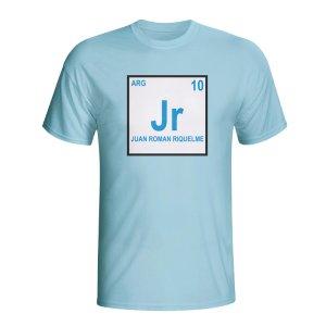 Juan Roman Riquelme Argentina Periodic Table T-shirt (sky Blue) - Kids