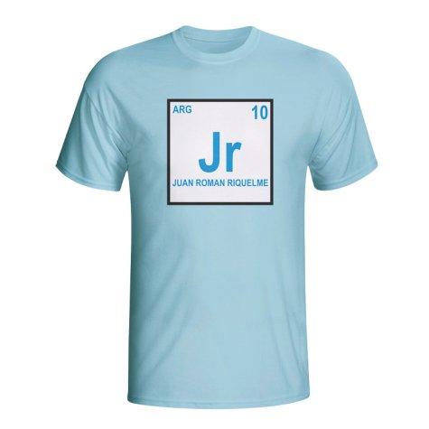 Juan Roman Riquelme Argentina Periodic Table T-shirt (sky Blue)