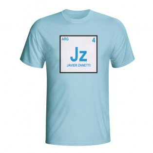 Javier Zanetti Argentina Periodic Table T-shirt (sky Blue) - Kids
