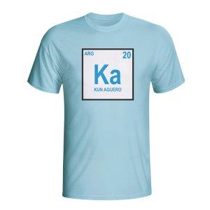 Kun Aguero Argentina Periodic Table T-shirt (sky Blue) - Kids