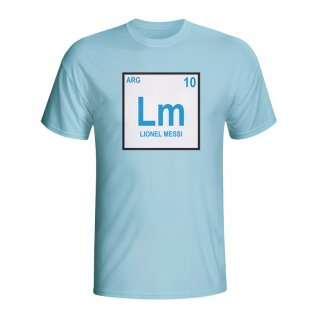 Lionel Messi Argentina Periodic Table T-shirt (sky Blue) - Kids