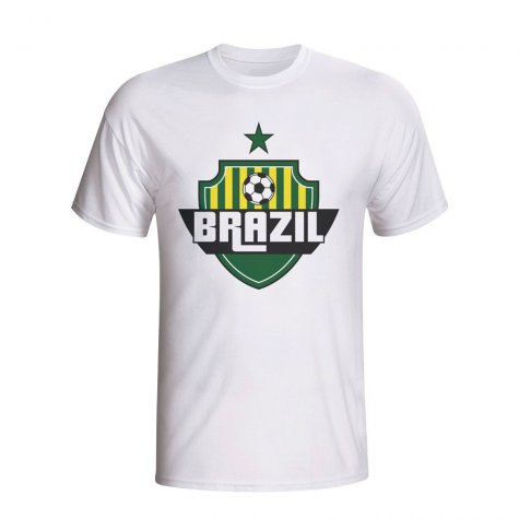 Brazil Country Logo T-shirt (white) - Kids