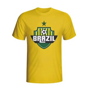 Brazil Country Logo T-shirt (yellow) - Kids