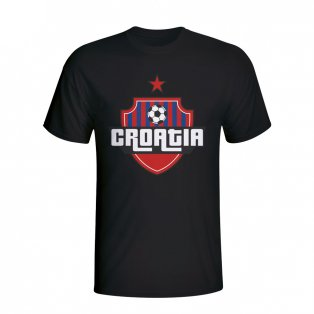 Croatia Country Logo T-shirt (black)