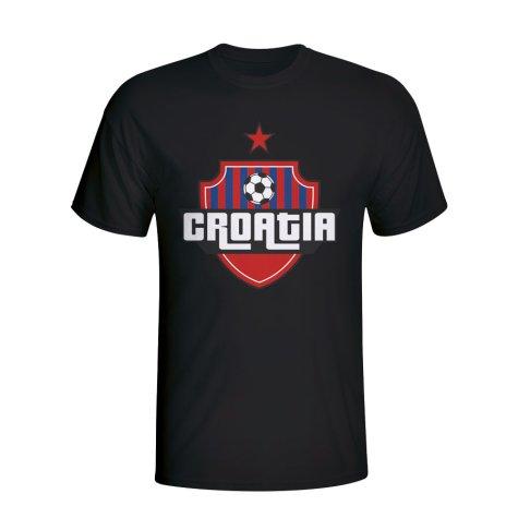 Croatia Country Logo T-shirt (black) - Kids