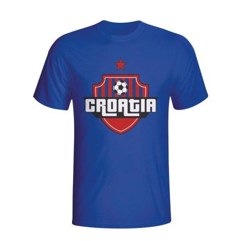 Croatia Country Logo T-shirt (blue) - Kids