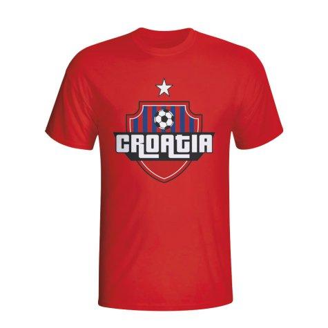 Croatia Country Logo T-shirt (red) - Kids