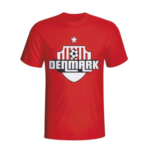 Denmark Country Logo T-shirt (red) - Kids