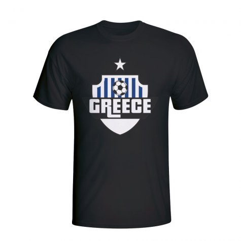 Greece Country Logo T-shirt (black)