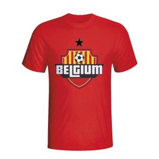 Belgium Country Logo T-shirt (red)