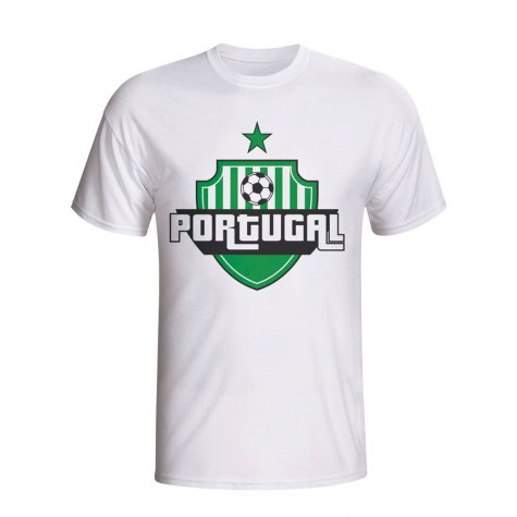 Portugal Country Logo T-shirt (white) - Kids