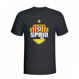 Spain Country Logo T-shirt (black) - Kids