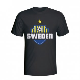 Sweden Country Logo T-shirt (black) - Kids