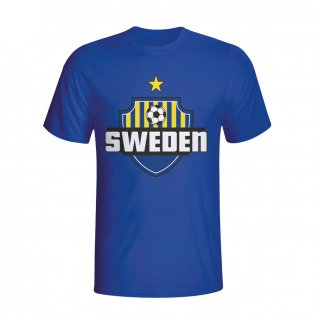 Sweden Country Logo T-shirt (blue) - Kids
