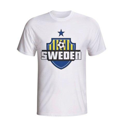 Sweden Country Logo T-shirt (white) - Kids