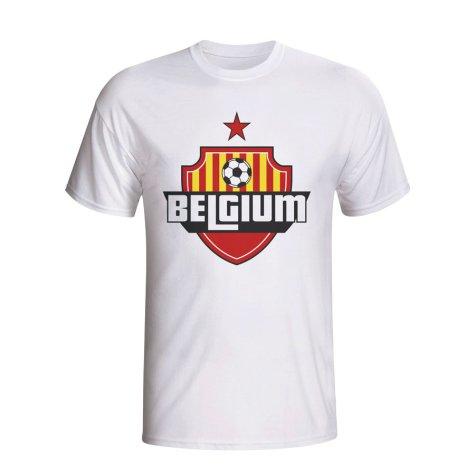 Belgium Country Logo T-shirt (white) - Kids