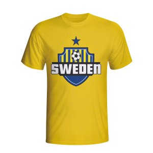 Sweden Country Logo T-shirt (yellow) - Kids