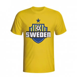 Sweden Country Logo T-shirt (yellow)