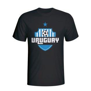 Uruguay Country Logo T-shirt (black) - Kids