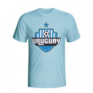 Uruguay Country Logo T-shirt (sky Blue) - Kids