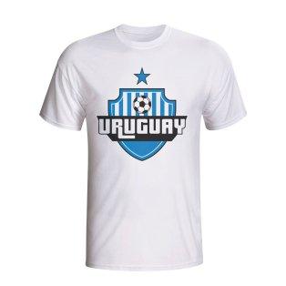 Uruguay Country Logo T-shirt (white) - Kids