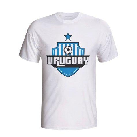 Uruguay Country Logo T-shirt (white)