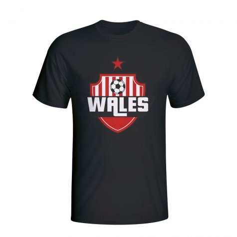 Wales Country Logo T-shirt (black) - Kids