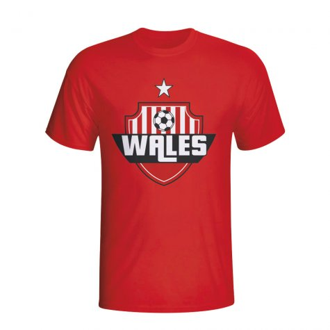 Wales Country Logo T-shirt (red) - Kids