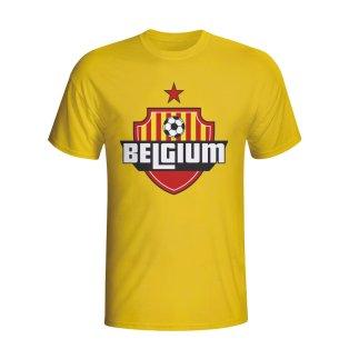 Belgium Country Logo T-shirt (yellow)