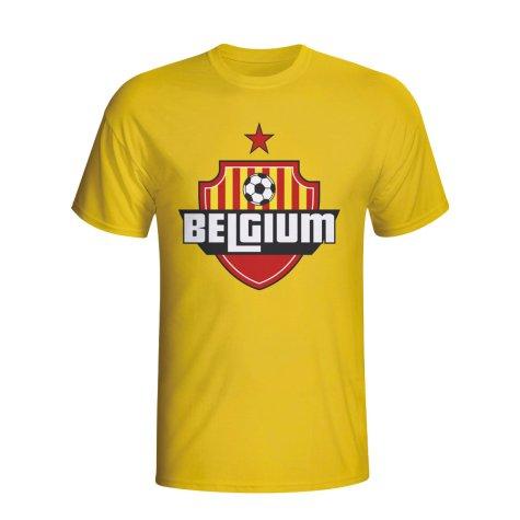 Belgium Country Logo T-shirt (yellow) - Kids