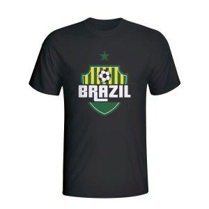 Brazil Country Logo T-shirt (black) - Kids