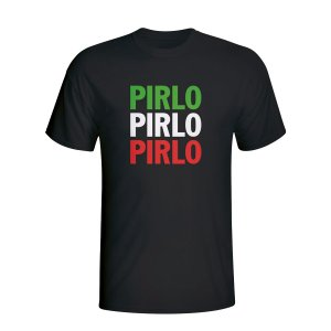 Andrea Pirlo Italy Player Flag T-shirt (black)