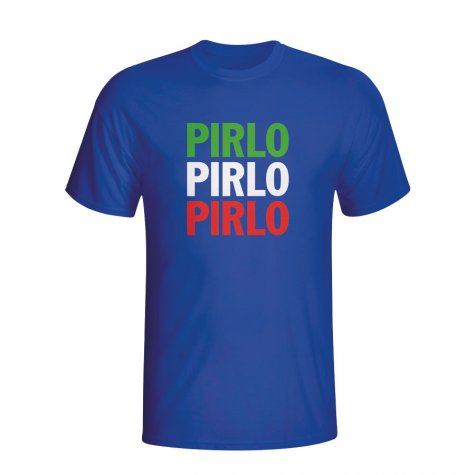 Andrea Pirlo Italy Player Flag T-shirt (blue) - Kids