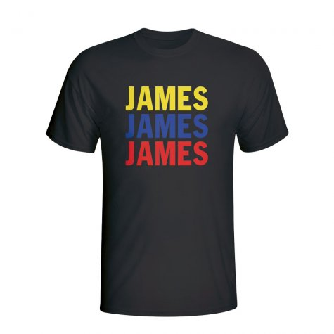 James Rodriguez Colombia Player Flag T-shirt (black) - Kids