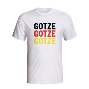 Mario Gotze Germany Player Flag T-shirt (white) - Kids