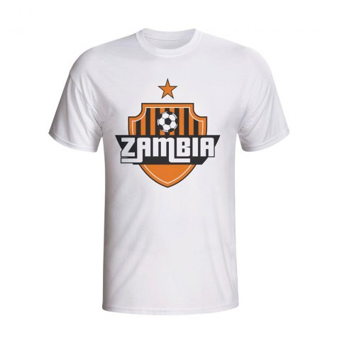 Zambia Country Logo T-shirt (white) - Kids