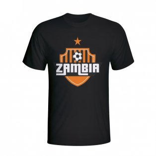 Zambia Country Logo T-shirt (black) - Kids