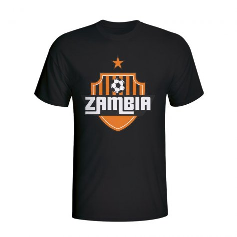 Zambia Country Logo T-shirt (black) - Kids