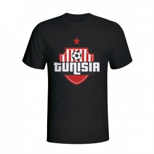 Tunisia Country Logo T-shirt (black) - Kids