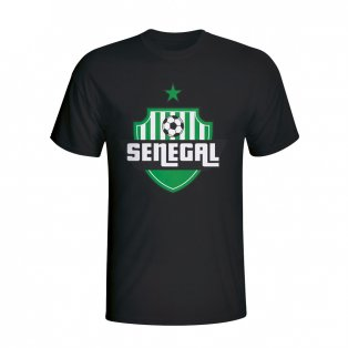 Senegal Country Logo T-shirt (black)
