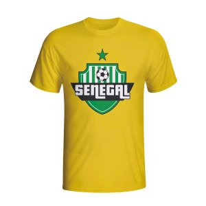 Senegal Country Logo T-shirt (yellow) - Kids