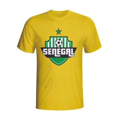 Senegal Country Logo T-shirt (yellow)