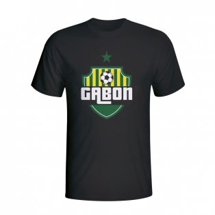 Gabon Country Logo T-shirt (black) - Kids
