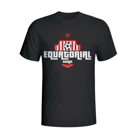 Equatorial Guinea Country Logo T-shirt (black) - Kids